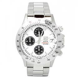 [エルジン] 腕時計 FK1184S-W メンズ シルバー  文字盤色-ブラック