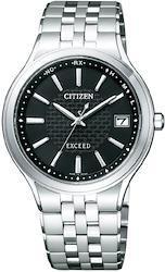 [シチズン]CITIZEN 腕時計 EXCEED エクシード Eco-Drive エコ・ドライブ 電波時計 AS7040-59E メンズ  文字盤色-ブラック