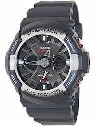 CASIO G-SHOCK (カシオ Gショック) 腕時計 メンズ アナデジモデル GA-200-1A ブラック 海外モデル 逆輸入品