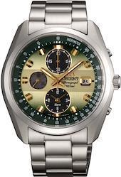 [オリエント時計] 腕時計 スポーティー ネオセブンティーズ ホライズン ソーラー クロノグラフ WV0021TY シルバー  文字盤色-グリーン