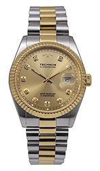 TECHNOS テクノス 腕時計 メンズ 男性用 T9604TC コンビ 5気圧防水 3針 日付表示 クォーツ