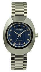 [テクノス]TECHNOS 腕時計 タングステンべセル 三針 ブルー T9475-CN メンズ[正規輸入品]