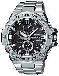 [カシオ] 腕時計 ジーショック G-STEEL スマートフォン リンク GST-B100D-1AJF メンズ シルバー  文字盤色-ブラック
