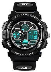 子供用防水腕時計 ボーイズデジタル腕時計 キッズアナログ腕時計 ストップウオッチ 目覚まし時計 すぽーつボーイズ腕時計 子供時計 男の子 スポーツ腕時計 デジタルウオッチ 小 ブラック