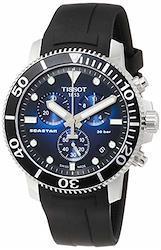 [ティソ] 腕時計 T1204171704100 メンズ 正規輸入品 ブラック  文字盤色-ブルー