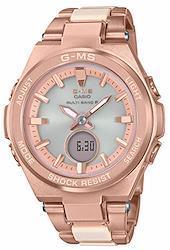 [カシオ] 腕時計 ベビージー G-MS 電波ソーラー MSG-W200CG-4AJF レディース ピンク
