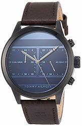 [トミーヒルフィガー] 腕時計 ICON GMT ネイビー文字盤 1791593 メンズ 並行輸入品 ブラウン  文字盤色-ブルー