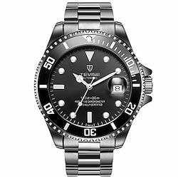RORIOS メンズ腕時計 高級メカニカル腕時計 自動巻きうで時計 機械式時計 メンズビジネスウォッチ 夜光 日付表示 ステンレスバンド 防水ウォッチ 紳士 誕生日プレゼント 時計 watch for men ブラックC  ブラックD
