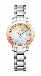 [シチズン] 腕時計 クロスシー hikari Collection エコ・ドライブ電波時計 Titania Happy Flight 限定モデル 世界限定2%カンマ%500本 限定ボックス付 ES9446-54X レディース シルバー  文字盤色-マルチカラー