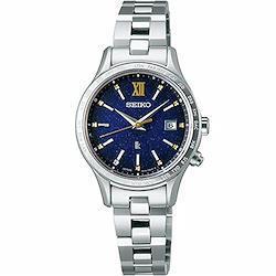 [セイコーウォッチ] 腕時計 セイコー SSVV063 レディース ステンレススチール(プラチナダイヤシールド)  文字盤:ネイビー