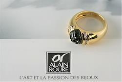 【ALAIN ROURE】 K18 トルマリンリング フランス製