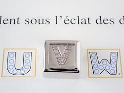 【ALAIN ROURE】 750 ダイヤモンド イニシャルペンダント フランス製