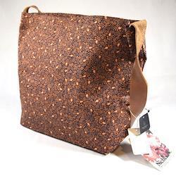 Niche / ニッチ ◆ショルダーバック/総柄/ブラウン/タグ付き メンズファッション【バッグ/バック/BAG/鞄/カバン】 【未使用】