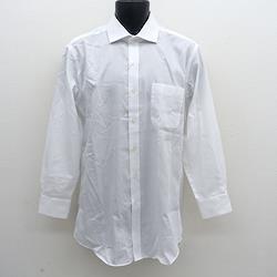 SIMON CARTER / サイモンカーター ◆長袖シャツ/ワイシャツ/無地/ホワイト/サイズ42-82 メンズファッション【メンズ/MEN/男性/ボーイズ/紳士】 【古着】 【中古】
