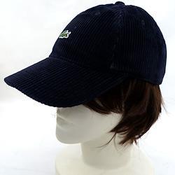 LACOSTE / ラコステ ■コーデュロイキャップ ワンポイント ネイビー RK3699L ブランド【メンズ/MEN/男性】【帽子/キャップ】 【新品】