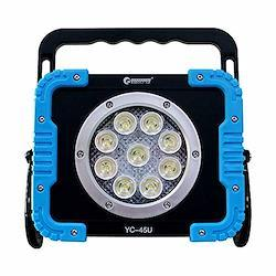 意匠権・実用新案登録 GOODGOODS COB LED投光器 45W 充電式 作業灯 LEDライト マグネット付き 防水 遠距離照射 スライドハンドル搭載 アウトドア 防災グッズ YC-45U
