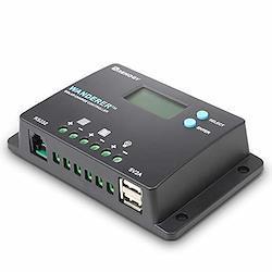 RENOGY PWM 多機能ソーラーチャージコントローラー10A 12V24V兼用 USB5V出力付き 太陽光発電専用 【日本語説明書付き・1年間保証付き】