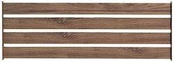 ガーデンガーデン アルミ ボーダーフェンス スタンダード(120cm間隔設置用) 木目調 ブラウン ALBF-12040BRN