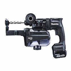 マキタ 充電式ハンマドリル14.4V 18mm/ハツリ可 SDS+ 集じんシステム・バッテリ充電器付 黒 HR181DGXVB