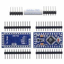 Aideepen 2個 Arduino Pro mini 3.3V/8MHzミニ 互換性のある開発ボードATMEGA328P搭載改良版、Nano V3.0 CH340Gモジュール基板水晶発振器ピン付きATmega128互換ボードArduino用マイクロプログラマブルモジュール