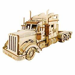 Robotime 3D立体パズル 木製パズル 木製 レーザーカット ギア ミニチュア オモチャ 知育玩具 男の子 女の子 大人 入園祝い 新年 ギフト 誕生日 クリスマス プレゼント 贈り物(トラック)