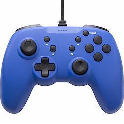 【連射ボタン搭載】 CYBER ・ ジャイロコントローラー ライト 有線タイプ ( SWITCH 用) ブルー - Switch  ブルー