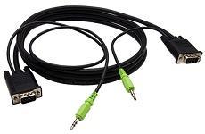 ステレオミニプラグ付きVGAケーブル  A1VGA01(1m)