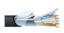 LANケーブル RJC6A-4P-F-EM(100m)