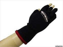 双進 RBB タイタニュームグローブ ブラック/レッド CA-14 Lサイズ(手の甲まわり25cm)