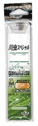 がまかつ 糸付 川虫スペシャル 茶 7号-ハリス0.6