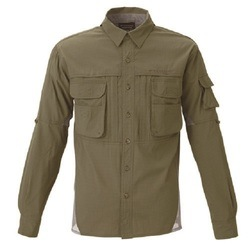 FINA BOWBUWNフィールドシャツ L カーキグリーン