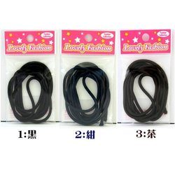 Lovely Fasion ウーリーゴム(太め)1m カラー:黒、紺、茶