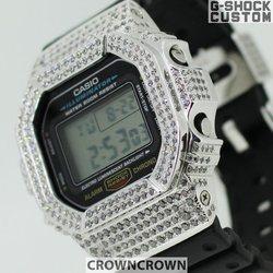 G-SHOCK ジーショック カスタム 腕時計 DW-5600 DW5600E-1 カスタムベゼル おしゃれ 芸能人 ブランド 人気 ユニセックス ファッション CROWNCROWN DW5600-010