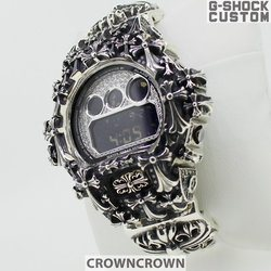 G-SHOCK ジーショック カスタム メンズ 腕時計 DW-6900 DW6900-NB1 カスタムベゼル おしゃれ 芸能人 十字架 クロス メンズ ファッション CROWNCROWN DW6900-032