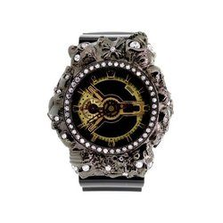 G-SHOCK ジーショック カスタム メンズ 腕時計 GA-110 GA110 GB-1 カスタムベゼル おしゃれ 芸能人 スカル クロス メンズ ファッション CROWNCROWN GA110-014