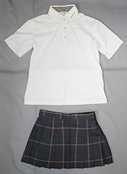 日本の高校の制服 高田中学校・高田高等学校(3年制夏服)
