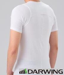 DARWING DAILY (姿勢サポートインナー 男性用 ホワイト L Vネック 半袖)(メーカー公式)