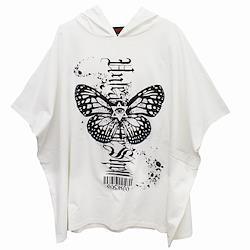 【Deorart ディオラート】フーディ プリント ポンチョTシャツ [Butterfly] DRT2560