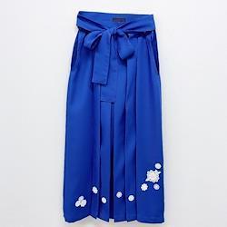 お花のモチーフ付き袴(瑠璃色)