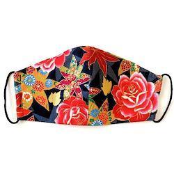 《ノーズワイヤー入り立体マスク》紅葉と薔薇牡丹
