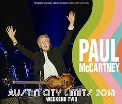 PAUL McCARTNEY - AUSTIN CITY LIMITS 2018: WEEKEND TWO (2CDR+1DVDR)