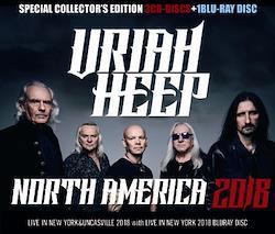 URIAH HEEP - NORTH AMERICA 2018 (3CDR+1BDR)