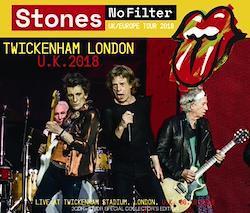ROLLING STONES - NO FILTER TOUR: TWICKENHAM LONDON 2018 (2CDR+1DVDR)