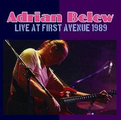 ADRIAN BELEW - LIVE AT FIRST AVENUE 1989