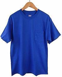 (ヘインズ) HANES BEEFY TEE POCKET ヘインズ メンズ ポケットTシャツ 5190p ビーフィー [並行輸入品] (M. ロイヤルブルー)