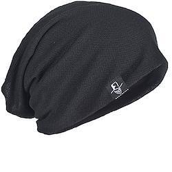 サマーニット帽 メンズニット帽 ニットワッチ ビーニー キャップ 薄手 春夏 【メディカルハット】B079 (B301-ブラック)…
