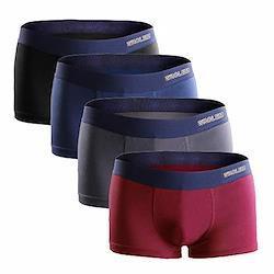 ボクサーパンツ メンズ 4枚セット 通気 吸汗 抗菌防臭加工 ボクサーショーツ (前閉じ)M