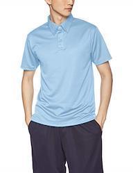 [グリマー] 半袖 4.4オンス ドライ ボタンダウン ポロシャツ (ポケット無) 00313-ABN ライトブルー LL (日本サイズLL相当)