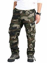 作業着 ズボン 作業 メンズ カーゴパンツ ゆったり ワークパンツ 大きいサイズ パンツ 118/迷彩/グリーン 36