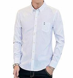 (ヴォンヴァーグ) ventvague カジュアル 七分袖 シャツ ボタンダウン ワイシャツ カットソー トップス メンズ (01.M. #ホワイト)